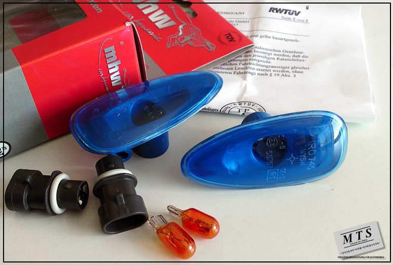 Fiat Bravo Brava Blue Front Fender Side Markers Lights