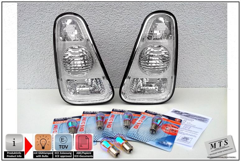 2x Fits Mini Cooper R56 Osram Diadem Chome Amber Front Indicator Light Bulbs