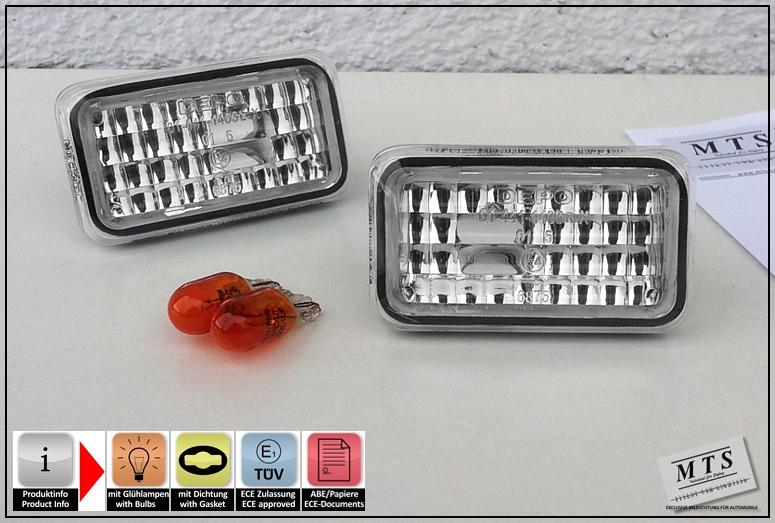 porsche 911 964 993 924 944 968 clear side indicators ebay. Black Bedroom Furniture Sets. Home Design Ideas